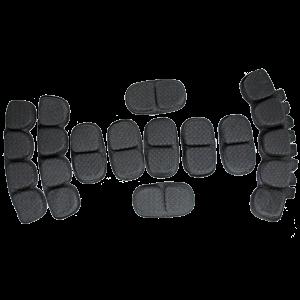 BLACK UPGRADE DELUXE COMFORT LINER HELMET PAD SYSTEM 01