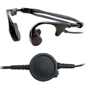 Bone Conduction Headset With Large Tactical PTT