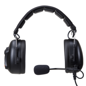 Over the Head Headset with Boom Microphone and Volume Control