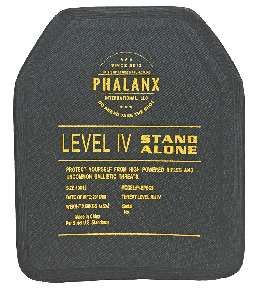 Phalanx™ 10×12 Lightweight NIJ Level IV Single Curve UHMWPE Ceramic Composite Stand Alone Ballistic Rifle Plate  sc 1 st  GunNook & Gunnook Warehouse | Phalanx™ 10×12 Lightweight NIJ Level IV Single ...